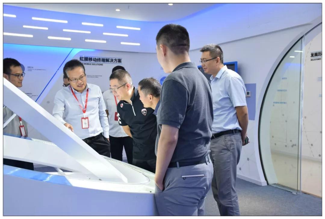 万通集团、鼎耘科技领导一行莅临虹识技术参观考察